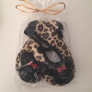 0-12 Mos Minnie Leopard Shoes